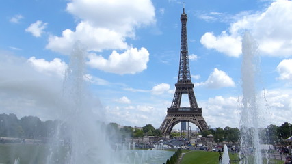 The Eiffel Tower And Fountain, Trocadero In Paris