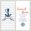 Nautical style wedding invitation - 64941309
