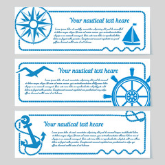 Set of nautical themed banners