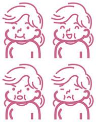 太め女性のアイコン