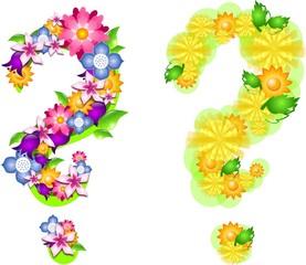 Florals questions marks