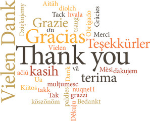 thank you in word clouds