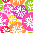 Vector floral colorful seamless pattern with hand drawn flowers