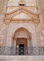 Entrance to Castel del Monte, Apulia, Italy