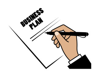 hand writes the business plan