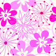 Pink Seamless flower background