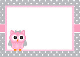 Baby girl invitation card template