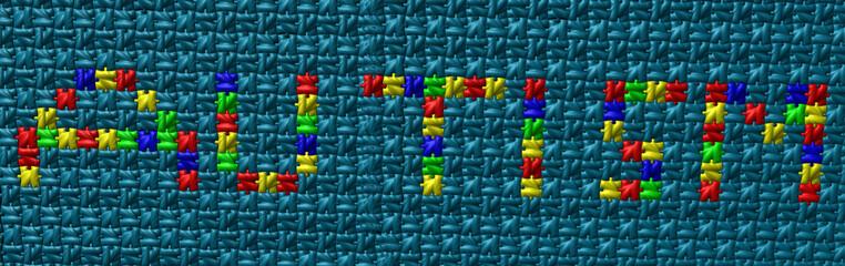 autism puzzle text