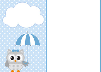 Baby Boy Shower Invitation Template