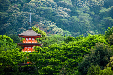 Three-storied pagoda,Taisan-ji Temple,Kiyomizu-dera Temple,Kyoto