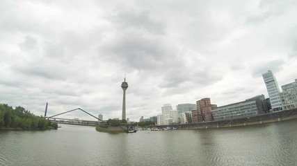 View of Dusseldorf from Dock