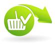 valider le panier sur web symbole vert