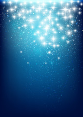Starry lights on blue background