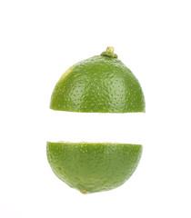 Lime cut in half.