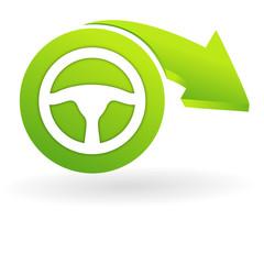 volant sur web symbole vert