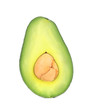 Ripe tasty avocado.