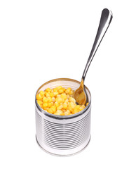 Canned sweet corn.