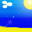 plage,ciel,soleil ciel bleu