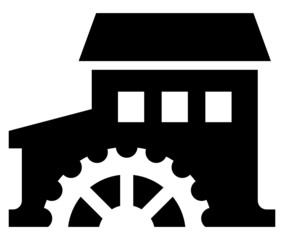 Watermill vector icon