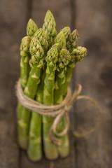 Grüner Spargel Erntefrisch