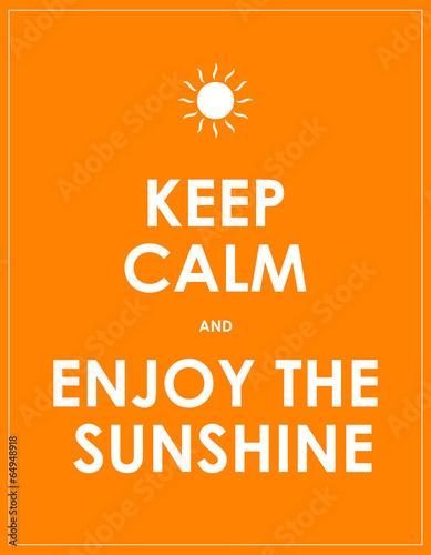 special summer keep calm modern motivational background Plakát