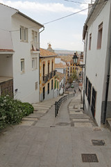The Cuesta del Realejo in Granada, Spain