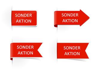 Schilder rot Sonderaktion
