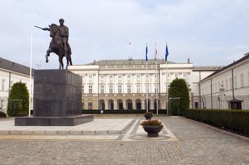 presidential palace Koniecpolski Palace with Prince Józef Poniat