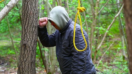 Man with noose in the  woods episode 5