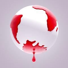 planet earth bleeding stop world violence
