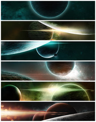 Banner of Planets on a starry background
