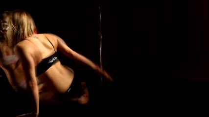 Girl dancing lap dance, beautiful woman doing pole dance
