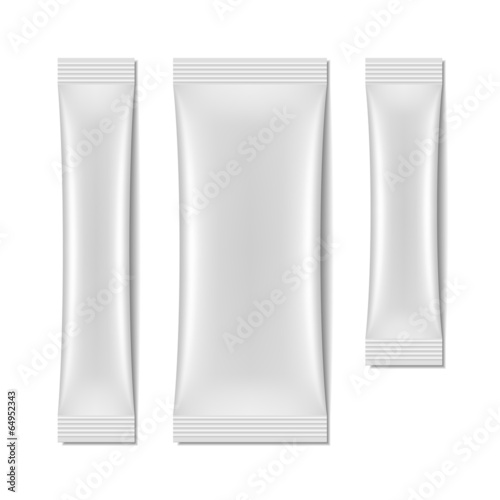 White blank sachet packaging, stick pack - 64952343