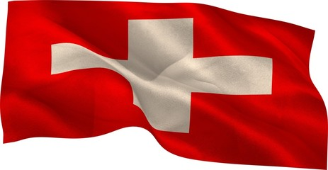 Digitally generated swiss national flag