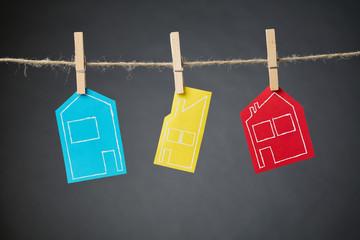 Real Estate Market - Hanging Houses