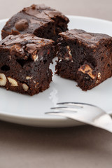 brownie pieces