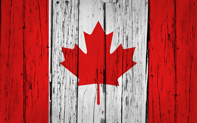 Canada Flag Grunge Background