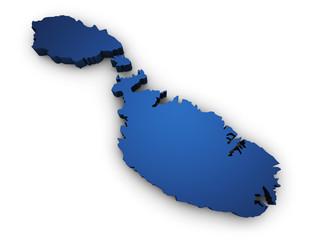 Map Of Malta 3d Shape