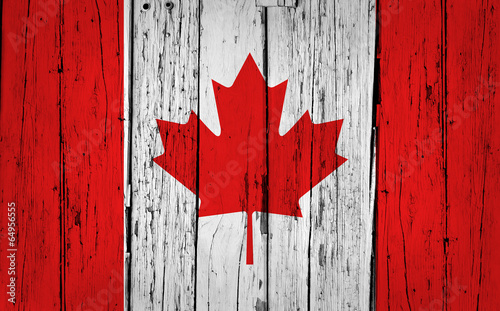 Foto op Canvas Canada Canada Flag Grunge Background