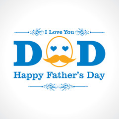 Happy Father's Day greeting card design stock vector
