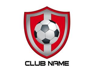 Red footbal emblem