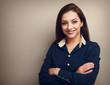 Beautiful smiling business woman . Instagram effect portrait