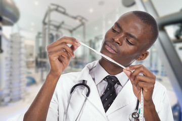 african young doctor