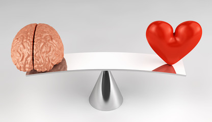 Sense or sensibility - Brain or heart