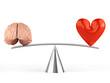 Obrazy na płótnie, fototapety, zdjęcia, fotoobrazy drukowane : Sense or sensibility - Brain or heart