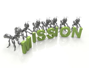 Team forming Mission word