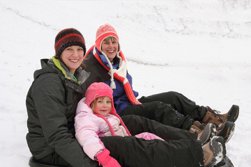 Mother, Daughter, Granddaughter in Winter