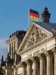 Flagge über dem Reichstag
