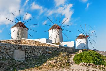 Famous Mykonos Windmills