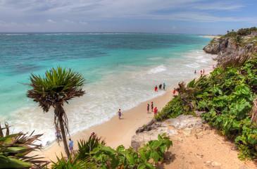 Tulum Maya Ruins Coastal line - Yucatan